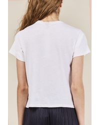 Re/done - White The Classic Tee - Lyst