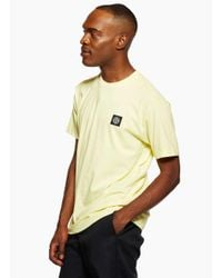 Stone Island - Yellow Tee Lemon for Men - Lyst