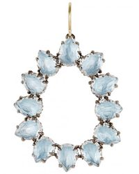 Larkspur & Hawk - Blue Caterina Small Frame Earring - Lyst