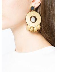 Lizzie Fortunato - Metallic Golden Hour Circle Earrings - Lyst
