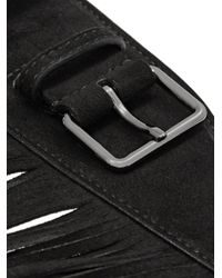 Alaïa - Black Fringe Belt - Lyst