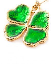 Aurelie Bidermann - Green Mini Clover Dip Necklace - Lyst