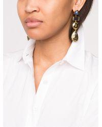 Lizzie Fortunato - Black Concho Column Earring - Lyst