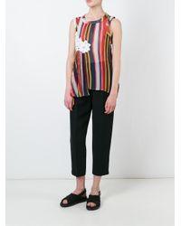 Sacai - Multicolor Rainbow Pleated Top - Lyst