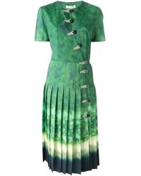 Altuzarra - Green Pleated Dress - Lyst