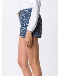 Thorsun | Blue Bird Print Board Shorts | Lyst