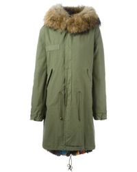 Mr & Mrs Italy | Blue Fox And Raccoon Fur Lined Parka | Lyst
