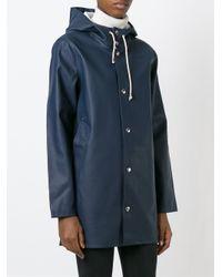 Stutterheim Blue Hooded Coat