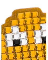 Anya Hindmarch - Pac-man Ghost Diamante Sticker - Yellow - Lyst