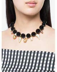 Lizzie Fortunato - Black Evora Necklace - Lyst