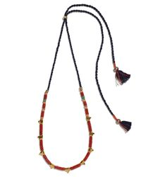 Lizzie Fortunato | Multicolor Simple Tooth Necklace In Coral | Lyst