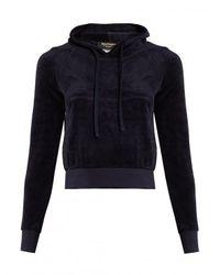 Vetements Blue Juicy Couture Hooded Velour Sweatshirt