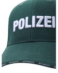 Vetements Green Polizei Baseball Hat for men