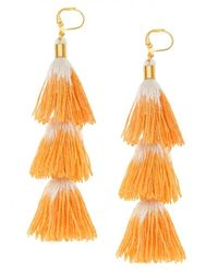 Shashi - Orange Sia Earrings - Lyst