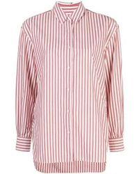 Nili Lotan Black Noa Striped Button Down Shirt