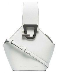 5342d489e585 Lyst - Danse Lente Mini Johnny Shoulder Bag in White
