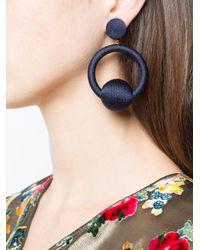 Rebecca de Ravenel | Blue Hoop La La Earrings | Lyst