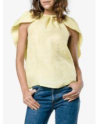 Rosie Assoulin - Multicolor Cape Silk Jacquard Top - Lyst