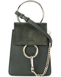 Chloé - Green Mini Faye Shoulder Bag - Lyst