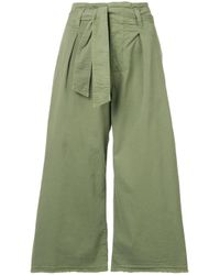 Nili Lotan Green Wide Leg Culottes