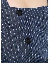 Altuzarra Blue Audrey Striped Dress
