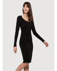 Kit and Ace - Black Emory Brushed Dress - Lyst