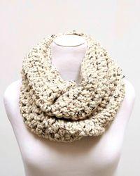 Kiyonna Natural Astille Chunky Knit Infinity Scarf By Deroucheau