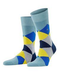 Burlington Blue Clyde Socks for men