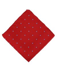 Michelsons Of London Red Spotted Handkerchief for men
