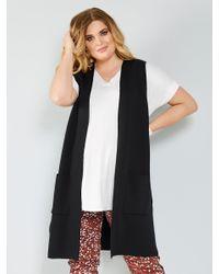 Sara Lindholm Mouwloos Vest in het Black