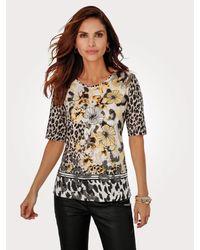 Rabe Shirt Bruin::ecru in het Multicolor