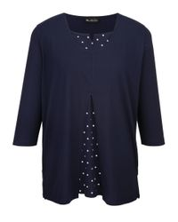 m. collection Shirt in het Blue