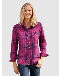 Dress In Blouse Marine in het Purple