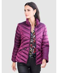 Alba Moda Gewatteerde Jas in het Purple