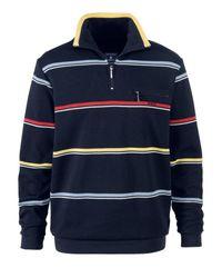 Babista Sweatshirt Marine Gestreept::geel::rood::blauw in het Blue voor heren