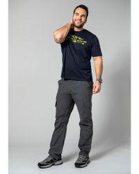 Men Plus T-Shirt in Blue für Herren