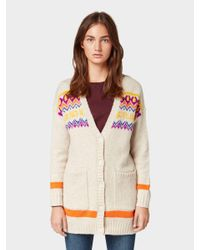 Tom Tailor Denim Natural Strick-Cardigan im Fair Isle-Design