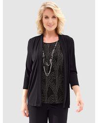 Paola 2-in-1-shirt in het Black