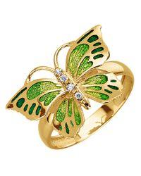 KLiNGEL Ring Vlinder in het Yellow
