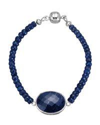 KLiNGEL Armband Met Saffier Donkerblauw in het Blue