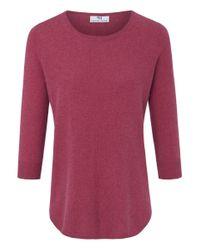 Peter Hahn Purple Rundhals-Pullover aus Seide-Kaschmir