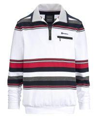 Babista Sweatshirt Wit/rood::rood::blauw in het Multicolor voor heren