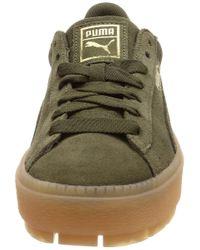 PUMA Green Sneaker Platform Trace Dunkelgrün