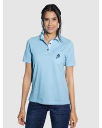 Dress In Poloshirt in het Blue