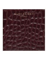 Kurt Geiger | Purple Croc Mini Purse | Lyst