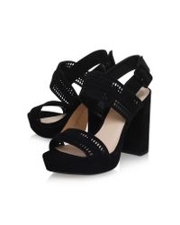 Vince Camuto Jazelle Black High Occasion Shoes Block Heel