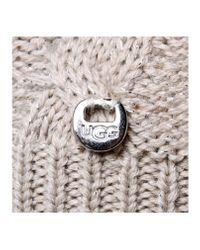 UGG Gray Isla Lurex Beanie W/fur