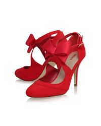 Miss Kg | Red Belle Bow Detail High Heel Court Shoes | Lyst