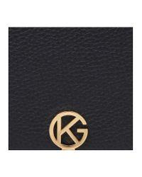 Kurt Geiger Black Leather Logo Wallet