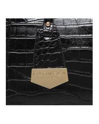 Carvela Kurt Geiger - Black Holly Croc Zip Bag - Lyst